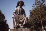 Estátua do Infante D. Henrique, Lagos - foto de José Semelhe, Julho de 2002
